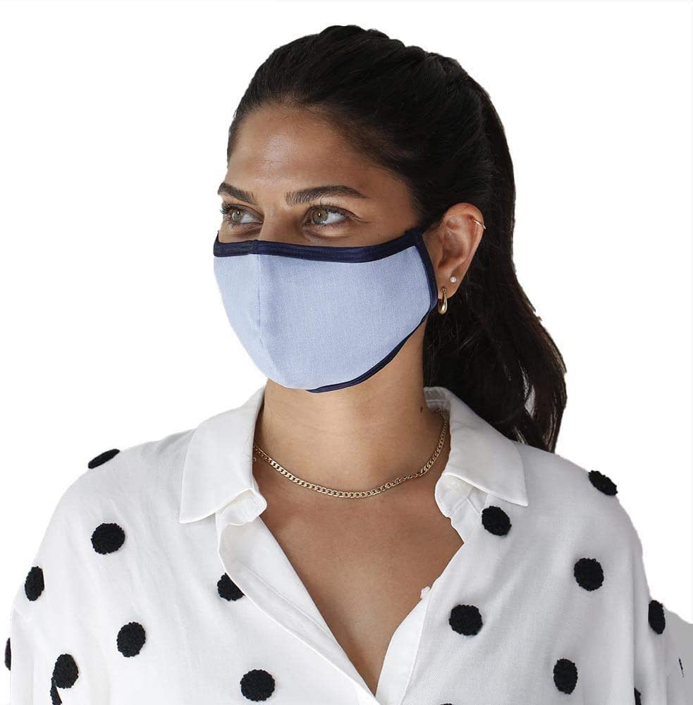 SONOVIA SonoMask Women Face Mask Reusable 売却 Clip 《週末限定タイムセール》 wire Inside Nose