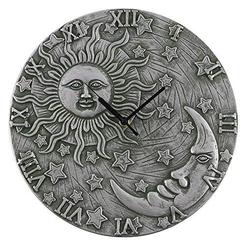 Spirit Of Equinox Silber Effekt Terrakotta Sonne und Mond Design Uhr