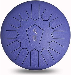Clásico Lengua tambor de acero de 12 pulgadas Mano Pan Percusión 13 Tune etéreo tambor Instrumental con tambor bolsa de transporte, 2 palillos, Tutorial libro, 4 Selecciones de Finger / Ideal para adu