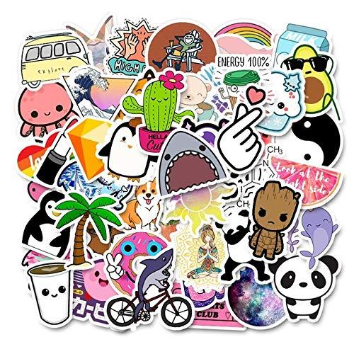 Style Sticker 50PCS Bag Waterproof Sticker on Laptop Phone Suitcase Luggage Skateboard Toy Girl Sticker-24