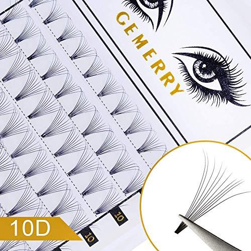 10D Extension Cils Volume Russe, 0.07mm D Curl...