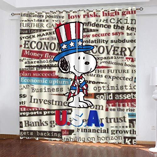 3D Isolierung Schattierung Vorhänge Cartoon Hund 2 Panel fit Kinder Vorhänge Für Wohnzimmer Schlafzimmer Blackout Kinderzimmer Vorhänge 150x166cm