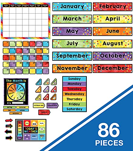 Celebrate Learning Calendar Bulletin Board Set—Colorful Calendar, Monthly Headers, Days of the Week, Seasons, Birthdays, Special Occasions, Weather Chart (86 pc) Photo #7