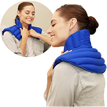 My Heating Pad Microwavable Neck and Shoulder Wrap Plus | Neck Wrap Microwavable for Relief of Pain, Sore Muscles Stress and Tension | Moist Heat Pack