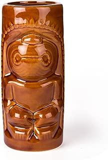 DYNASTY Hawaiian Ku Brown Ceramic Tiki Mug - 12 oz