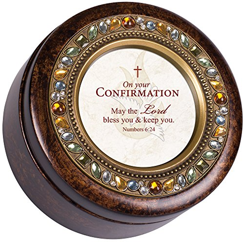 Cottage Garden Confirmation Lord Bless Amber Earth Tone Jewelry Music Box Plays How Great Thou Art