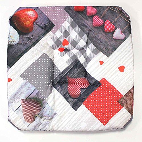 couleur montagne galette 4 rabats 36x36x3.5cm polyester photoprint valentine