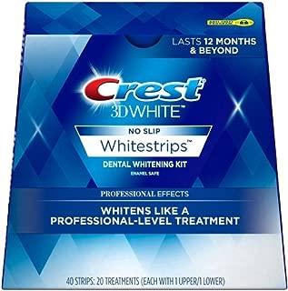 Crest 3D No Slip Whitestrips Professional Effects Teeth Whitening Kit 20 ea (Pack Of 2)