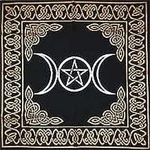 Altar Tarot Cloth: Triple Goddess With Pentagram - 24