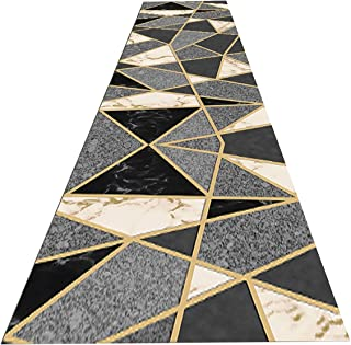 Long Hallway Runner Rugs Modern Geometric Non Slip Carpet Runners for Hallway Kitchen Living Room and Bedroom, Washable an...