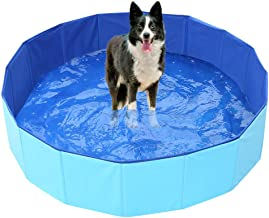LZPQ Piscina para Perros Piscina Circular Tipo de acordeón,Plato de Ducha rápido Monta y se desmonta Disfrute canino