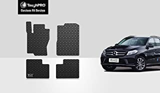ToughPRO Floor Mats Set (Front Row + 2nd Row) Compatible with Mercedes-Benz GLE - All Weather - Heavy Duty - (Made in USA) - Black Rubber - 2016, 2017, 2018, 2019