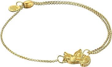 Alex and Ani Womens Dove Pull Chain Bracelet - Precious Metal