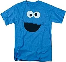 Sesame Street Cookie Monster Face Mens Short Sleeve Shirt …