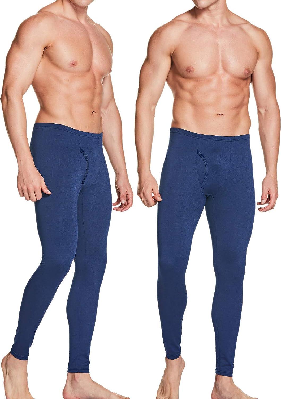 Winter Base Layer Bottoms ATHLIO 2 Pack Mens Thermal Underwear Pants Warm Fleece Lined Long Johns Leggings