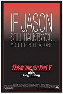 Buyartforless Friday The 13th Part V A New Beginging Jason Movie 36x24 Art Print Poster Wall Decor Horror Film - If Jason Still Haunts You. You're not Alone. Part 5