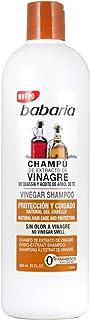 Babaria Champú de Extracto de Vinagre y aceite de arbol de té Protector - 600+100 ml
