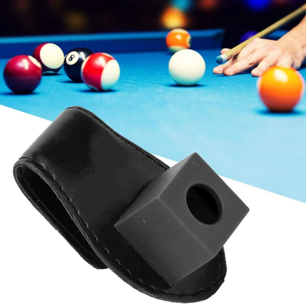 Alomejor Pool Billiards Clip de Cuero Soporte de Tiza Taco de ...