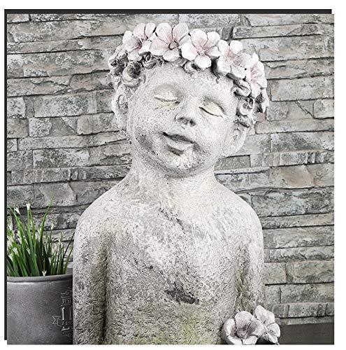 QMZZN Statuen Statuen Und Skulpturen Engel Blumentopf Statue Im Freien Garten Innenhof Dekoration Skulptur Handwerk