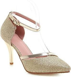 BalaMasa Womens ASL06953 Leather Heeled Sandals