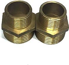 """VEDA 2 pecs Messing slang Tap Connector Mannelijke draad Loodgieter Water Pijp Adapter Fitting 3/4"""" BSP to 1"""" = DN20 to DN25"""