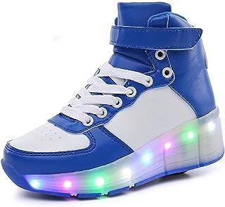 EVLYN Kids Shoes LED Light up Shoes Roller Skate Shoes Unisex Kids Boy Girl Flashing Sneakers Kids Gift