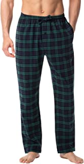 LAPASA Men's Pyjama Bottoms 100% Cotton Checked Flannel & 100% Woven Cotton Plaid Pants Loungewear Nightwear Trousers M38,...