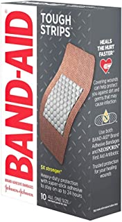 Band-Aid Brand Tough Strips Adhesive Bandages for Wound Care, Durable Protection for Minor Cuts and Scrapes, Extra Large S...