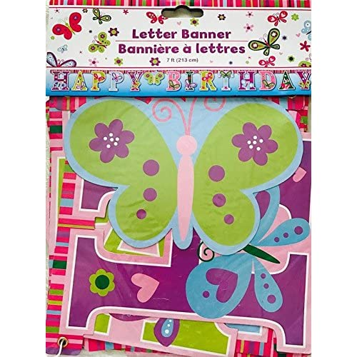 Happy Birthday Butterfly Letter Banners 7 Ft By Greenbrier