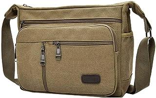 YiyiLai Men Leisure Vintage Crossbody One Shoulder Messenger Bag