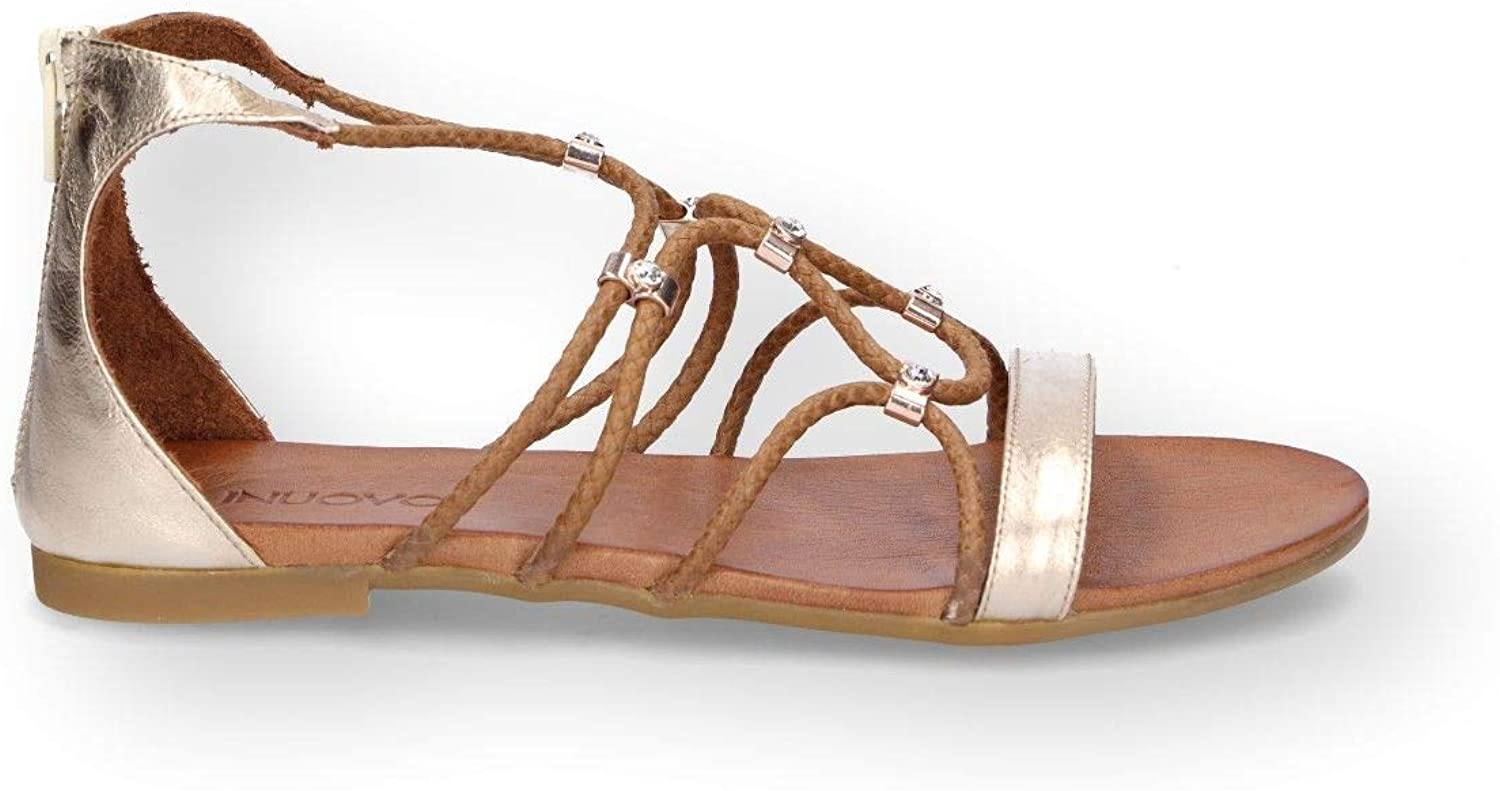 Inuovo Women's 7386gold gold Leather Sandals