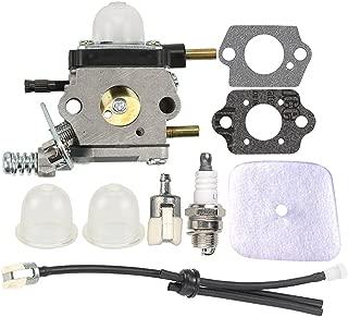 Savior C1U-K54A Carburetor C1U-K17 12520013123 with Primer Bulb Gaskets Fuel Line Kit for Echo Mantis LHD-1700 HC-1500 TC-210 TC-210i TC-2100 SV-6/1 SV-6 SV-5C SV-5Ci SV-5C/1 SV-4B Tiller Cultivators