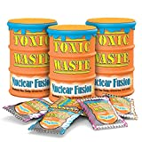 Toxic Waste - Nuclear Fusion - Dual Flavored, Hazardously Sour Candies - 5 Assorted Flavor Combinations - 1.7oz Drums, Pack of 3