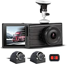 $209 » 3CH Vehicle Backup Camera 1080P Front and VGA for 2 Sides Truck Dash Cam Infrared Night Vision Recording DVR Waterproof Da...
