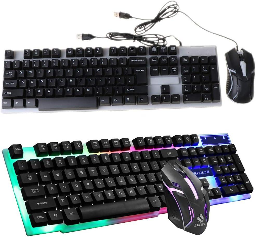 Jilin GTX300 USB Wired 104 Keys RGB Backlight Ergonomic Gaming Mouse Keyboard Set