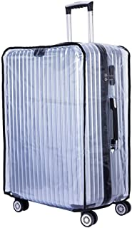 Sarvoday Transparent Luggage Trolley Protective Covers PVC Waterproof (Size-32Inches)