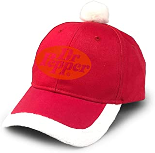 Dr Pepper Christmas Hats Red Santa Baseball Cap for Kids Adult Families Celebrate New Year Party