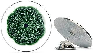 Mandala 2 Green Design Spiritual Circle Round Metal 0.75