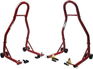 Sport Bike Motorcycle Front & Rear Swingarm Spool Paddle Lift Stand Fits Yamaha Honda Kawasaki Suzuki Ducati BMW