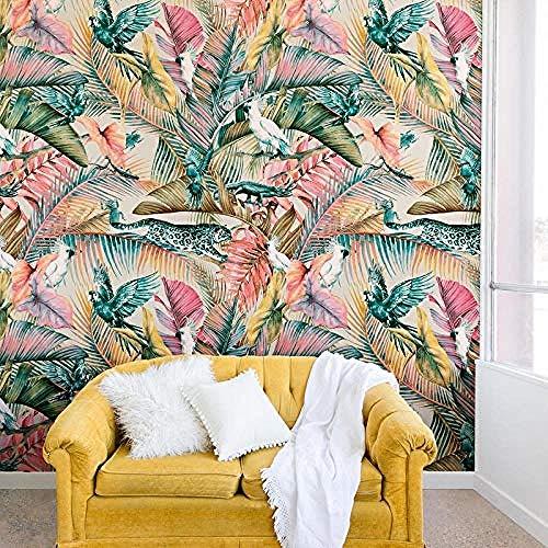 Individuelle Tapeten Sunset Jungle Mural TV Wall Wallpaper fototapete 3d Tapete effekt Vlies wandbild Schlafzimmer-400cm×280cm