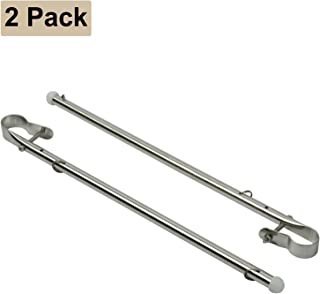 DasMarine 2 Pcs 15.5 Long Stainless Steel Boat Yacht Marine Flag Pole,  Rail Mount 7/8 - 1 1/4
