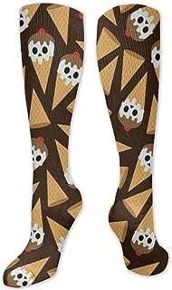 MISS-YAN, Calcetines para hombre y mujer, divertidos y locos, para carreras, deporte, trel, deporte, calcetines de calf