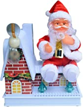 YYaaloa Santa Claus with Windmill, Singing Electric Toy, Santa Claus Figure Christmas Santa Claus Christmas Xmas Gift for Kids (Style 1)
