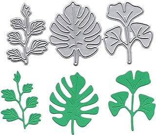 Mikilon Metal Die Cutting Dies Cut Handmade Stencils Template Embossing for Card Scrapbooking Craft Paper Decor Window Teapot Criss Cross Leaf Monster (F)