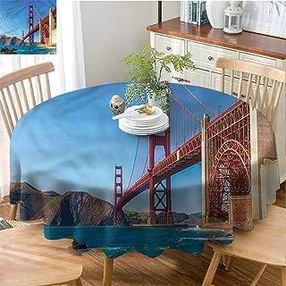 ScottDecor Reusable Round Tablecloth Travel,Marshall Beach in California Christmas Tablecloth Diameter 36