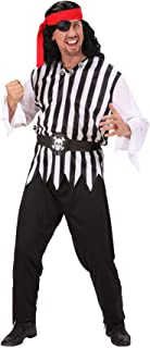 Adults Pirate Fancy Dress Costume Ladies Book Week Halloween Party Wear Outfit (Mens) Small