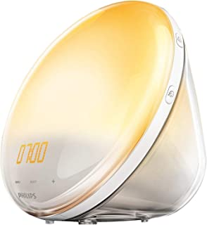 Philips HF3531 Wake-Up Light LED with 7 Natural Sounds Alarm and FM Radio