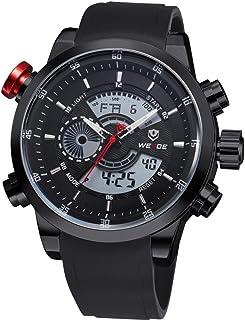 WEIDE Multi-functional Waterproof Mens Boys LED Digital Analog Dual Time Display Sports Wrist Watch