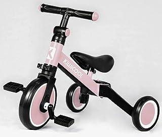 Kiwicool 3 in 1 Kids Tricycles for 1.5-4 Years Old Kids Trike 3 Wheel Bike Boys Girls 3 Wheels Toddler Tricycles(Pink)