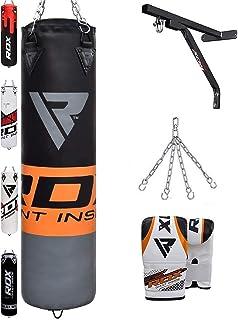 Starpro Saco de Boxeo Entrenamiento Lleno Conjunto Profesional Alta Resistencia con Cadena Ideal para Muay Thai MMA Kickboxing Golpes Karate Judo Taekwondo PVC Cuero Artificial